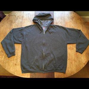 Men's Hanes Hooded Zip-up Sweatshirt XL